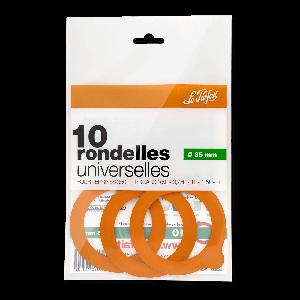 10 Joints en caoutchouc pour bocaux et Terrines Le Parfait Ø 85